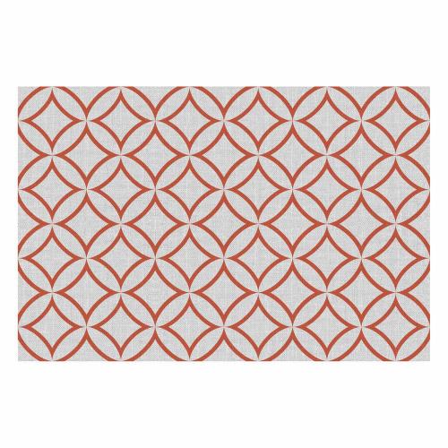 Vinyl Teppich MATTEO 40x60 cm Leinen 7 Rot