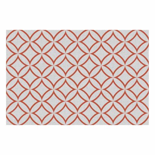 Vinyl Teppich MATTEO 60x90 cm Leinen 7 Rot
