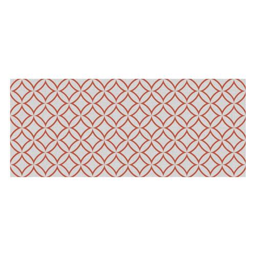 Vinyl Teppich MATTEO 50x120 cm Leinen 7 Rot