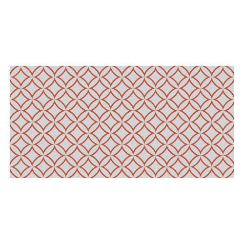 Vinyl Teppich MATTEO 70x140 cm Leinen 7 Rot