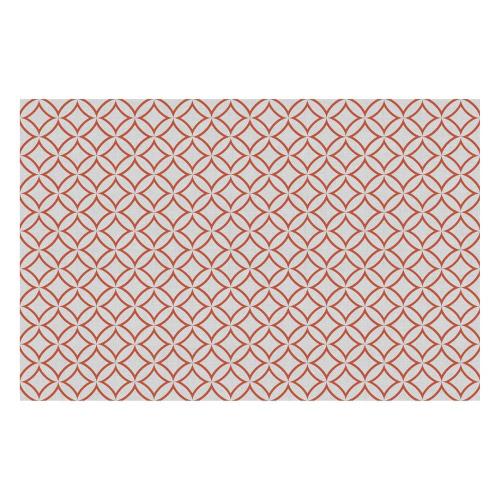Vinyl Teppich MATTEO 118x180 cm Leinen 7 Rot