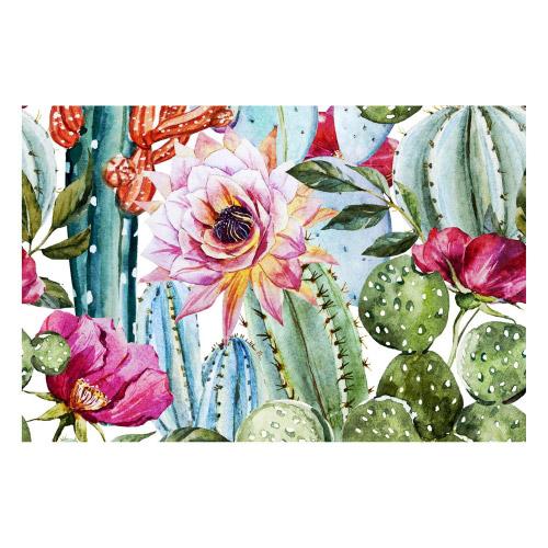 Vinyl Teppich MATTEO 90x135 cm Exotic Cactus
