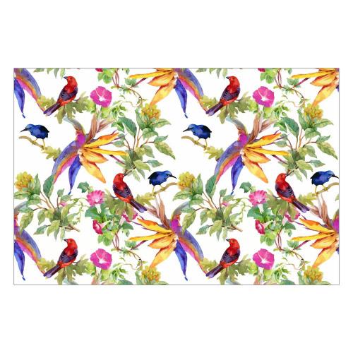 Vinyl Teppich MATTEO 90x135 cm Exotic Parrots