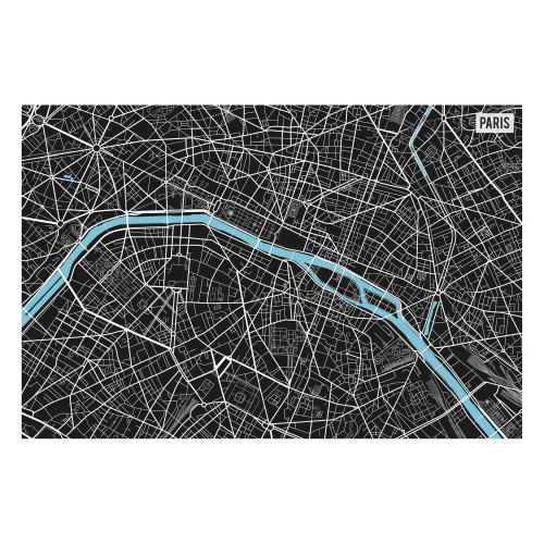 Vinyl Teppich MATTEO 40x60 cm Paris City Map S/W