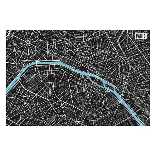 Vinyl Teppich MATTEO 60x90 cm Paris City Map S/W