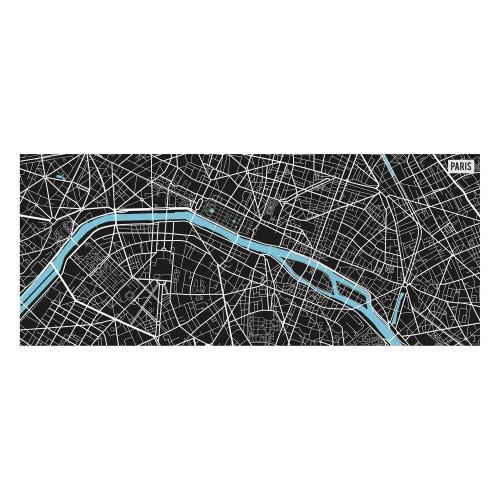 Vinyl Teppich MATTEO 50x120 cm Paris City Map S/W