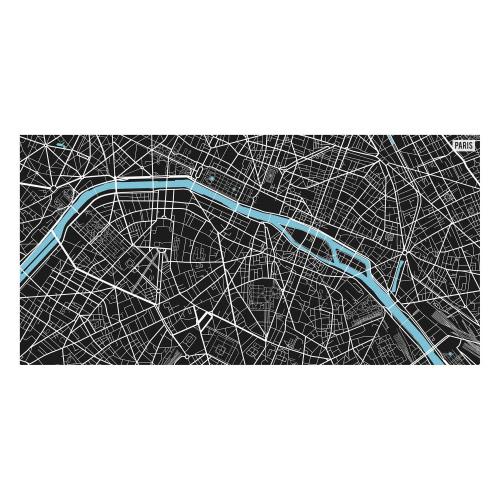 Vinyl Teppich MATTEO 70x140 cm Paris City Map S/W