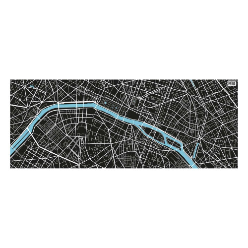 Vinyl Teppich MATTEO 70x180 cm Paris City Map S/W