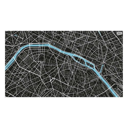 Vinyl Teppich MATTEO 90x160 cm Paris City Map S/W