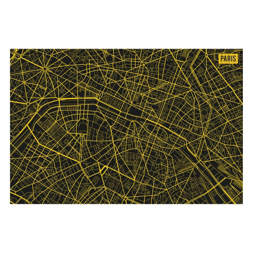 Vinyl Teppich MATTEO 60x90 cm Paris City Map Gelb