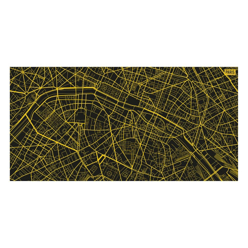 Vinyl Teppich MATTEO 70x140 cm Paris City Map Gelb