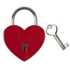 Liebesschloss graviert - Herz rot