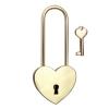 Liebesschloss graviert - Herz lang gold