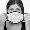 Lamask Mund-Nasen-Bedeckung TRIANGEL WEISS