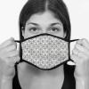 Lamask Mund-Nasen-Bedeckung FLIESEN GRAU