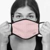 Lamask Mund-Nasen-Bedeckung PUNKTE ROSA