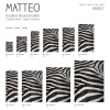 Vinyl Teppich MATTEO 50x120 cm Zebra