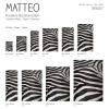 Vinyl Teppich MATTEO 118x180 cm Zebra
