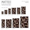 Vinyl Teppich MATTEO 40x60 cm Leopard