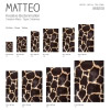 Vinyl Teppich MATTEO 70x180 cm Leopard