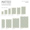 Vinyl Teppich MATTEO 50x120 cm Fliesen 3 Bunt