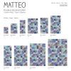 Vinyl Teppich MATTEO 40x60 cm Mosaik Bunt 2