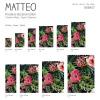 Vinyl Teppich MATTEO 90x135 cm Exotic Flower