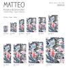 Vinyl Teppich MATTEO 40x60 cm Flamingo & Zebra