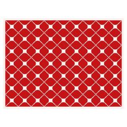 contento Tischset Vinyl Pattern Rot 2