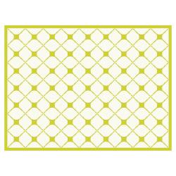 contento Tischset Vinyl Pattern Grün 1