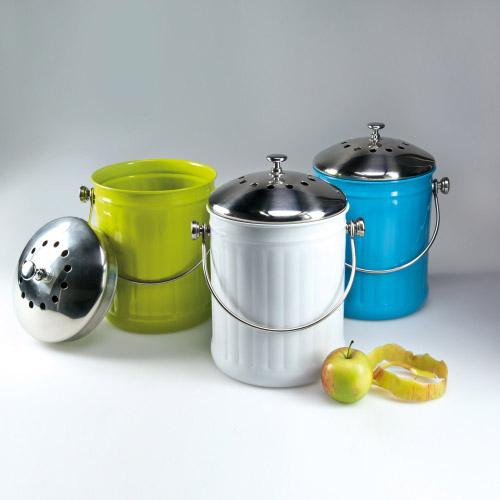 Komposteimer Bio Buddy Edelstahl · Tisch und Küche