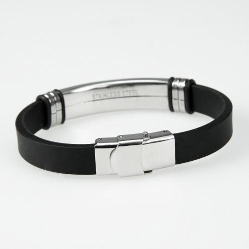 gravur armband silikon edelstahl contento. Black Bedroom Furniture Sets. Home Design Ideas