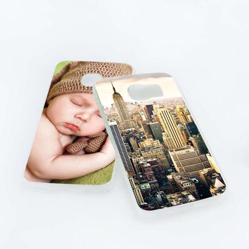 handyh lle transparent mit eigenem foto f r samsung. Black Bedroom Furniture Sets. Home Design Ideas