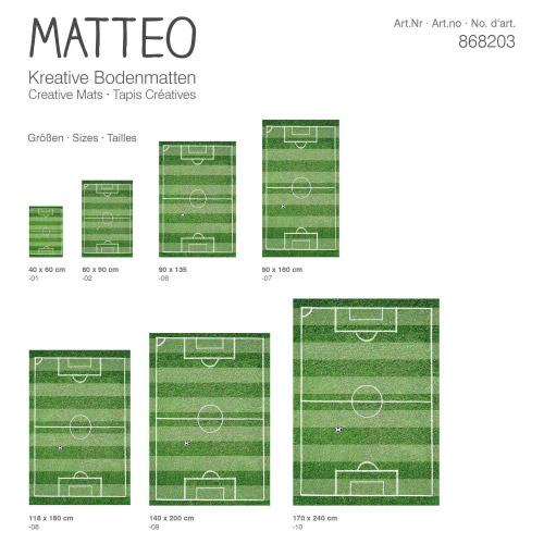 Matteo Bodenmatte Vinyl Bedruckt 60 X 90 Cm Fussballfeld