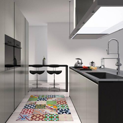 matteo bodenmatte vinyl bedruckt 50 x 120 cm mosaik bunt contento. Black Bedroom Furniture Sets. Home Design Ideas