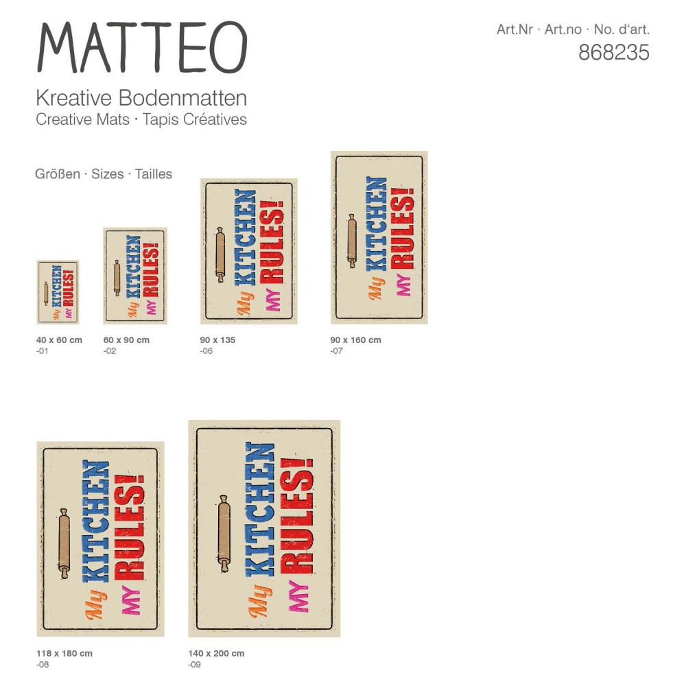 Matteo Kitchens: MATTEO Bodenmatte Vinyl Bedruckt 90x135 Cm