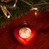 Weihnachtsherz mit Foto silber