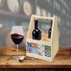 Wine Caddy MOSAIK BLAU