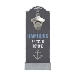 contento Wand-Flaschenöffner HAMBURG KOORDINATEN