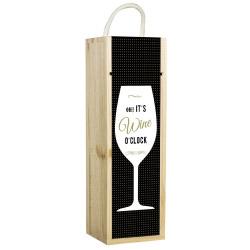 contento Weinbox schwarz mit Spruch