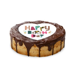 contento Cake Top Tortenbild Herz 20x19 cm HAPPY BIRTHDAY