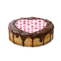 contento Cake Top Tortenbild Herz 20x19 cm HERZEN PINK