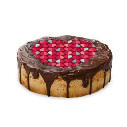 contento Cake Top Tortenbild Herz 20x19 cm HERZEN ROT