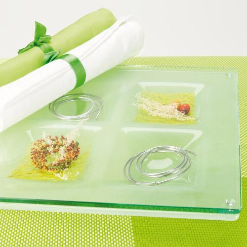 Gusto untersetzer aus glas 6 f cher for Glas deko bilder