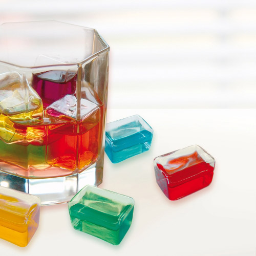 Bunte eisw rfel aus glas 6 teiliges set contento for Bunte lampenschirme aus glas