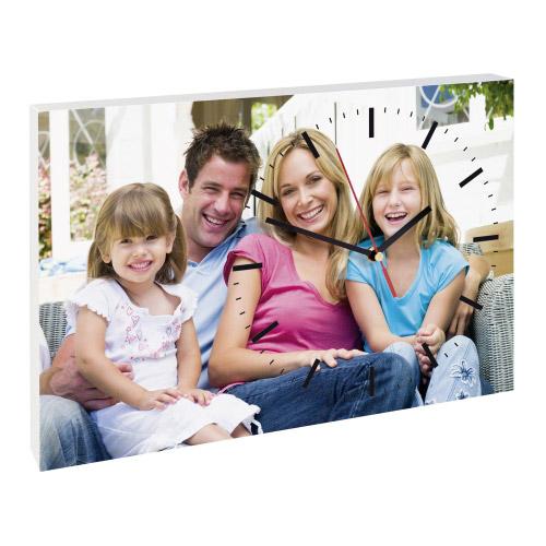 foto wanduhr rechteckig individuelles motiv contento. Black Bedroom Furniture Sets. Home Design Ideas