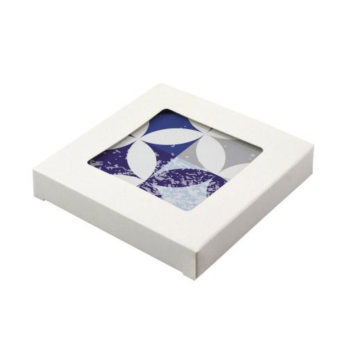 untersetzer 4er set mdf bedruckt 10 x 10 cm motiv mosaik blau grau contento. Black Bedroom Furniture Sets. Home Design Ideas