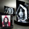 3D Glasfoto + Clarisso® Sockel SET Herz M 120x130x40