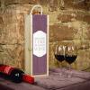 Weinbox lila mit Tafelfunktion