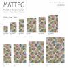 MATTEO Vinyl Teppich 90x160 cm - Mosaik Bunt 1